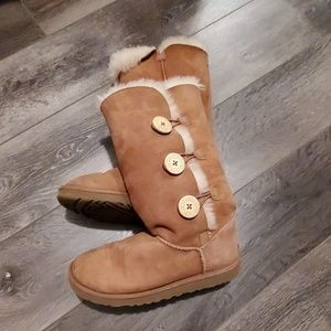 Ugg Bailey Button chestnut tall boots